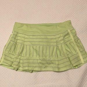Lululemon Green and Grey Skort Size 10